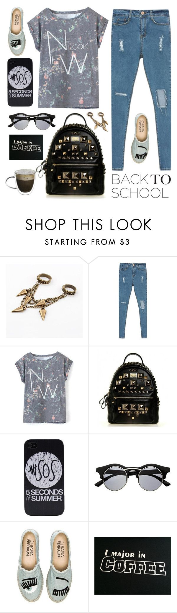 """The First Day of School"" by dora04 ❤ liked on Polyvore featuring Retrò, Chiara Ferragni, BackToSchool and stylemoi"