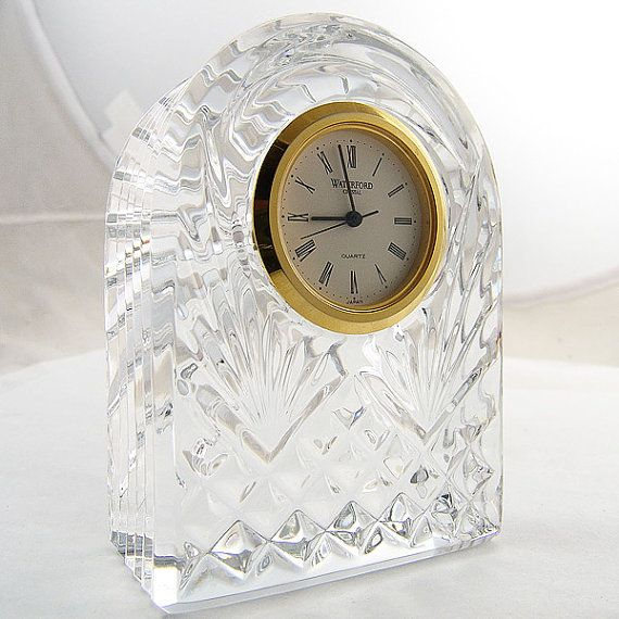 waterford crystal clocks | Waterford Crystal Clock Quartz by arcadecache on Etsy