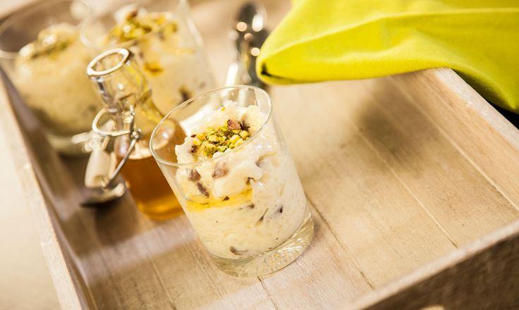 Alpro - Arroz doce com pistachios e passas - Arroz doce com pistachios e passas