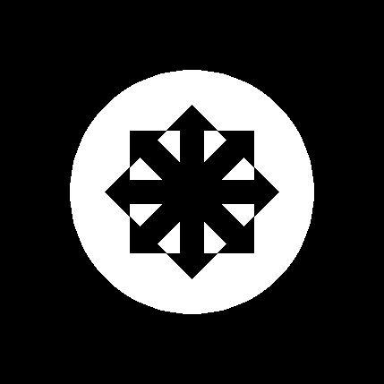 Konspiratist Thuulo Lesbosexovil, Rychtich & Richtich puolet. = Konspiratist Personal Status Square Banner of Nyxis Infinitis Paradisius Styxian, left and rite sides. (The Left and Rite Sides of The Personal Status Square Banner of The Riteous Evil Creator, The First Supreme Leader of The Riteous Evil Imperial Federation of The Universe);). Koillis-Savon Mikan Lippo :D. Vartiolipun mitat: 8-nuolinen pysty- & vaaka 5x5, täplän halkaisija 7, korkeus 11, leveys 11.
