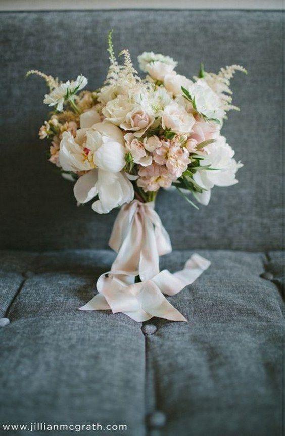 blush pink astilbe wedding bouquet / http://www.himisspuff.com/astilbes-wedding-ideas/6/