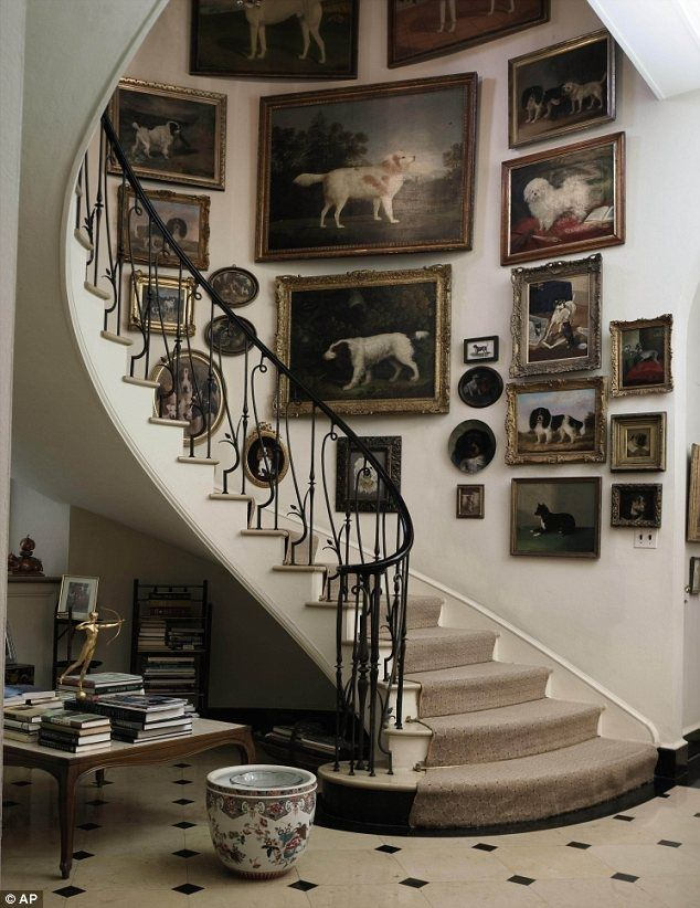 Staircase at Brooke Astor's Westchester estate.