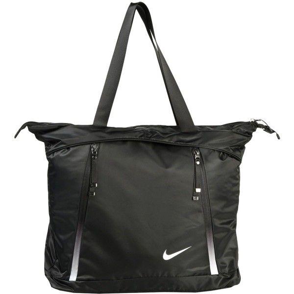 Nike Shoulder Bag (110 BAM) ❤ liked on Polyvore featuring bags, handbags, shoulder bags, black, shoulder bag purse, shoulder shopping bag, shoulder hand bags, shopper purse and nike purse