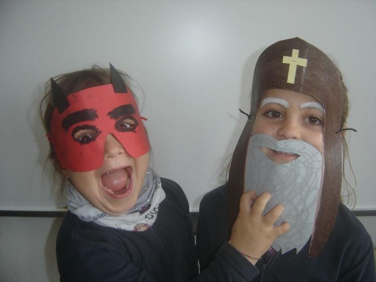Caretes Sant Antoni i el dimoni.