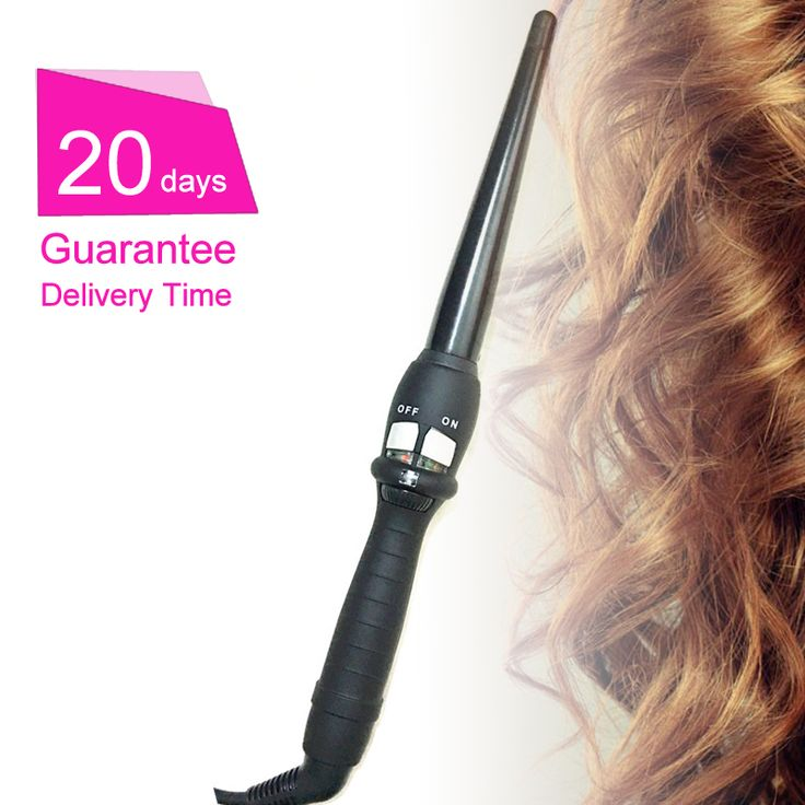 curlers conical curling iron single tube ceramic glaze pear flower cone electric hair curly hair : 110-240 - v