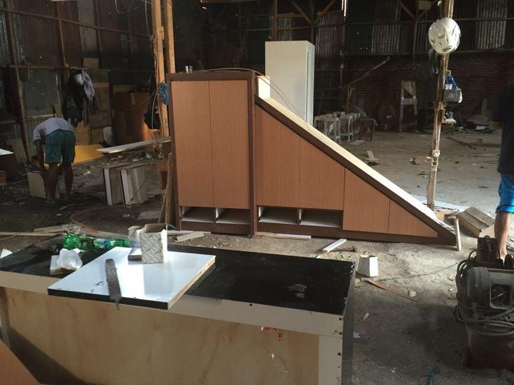 Lemari Bawah Tangga | Bikin Furniture Bandung 0896-1474-9219,Pin 7F-92-08-27