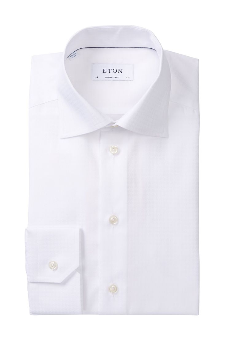 Textured Contemporary Fit Dress Shirt