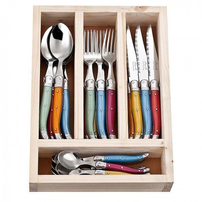 Jean Neron Cutlery Set 24 Piece Multicoloured