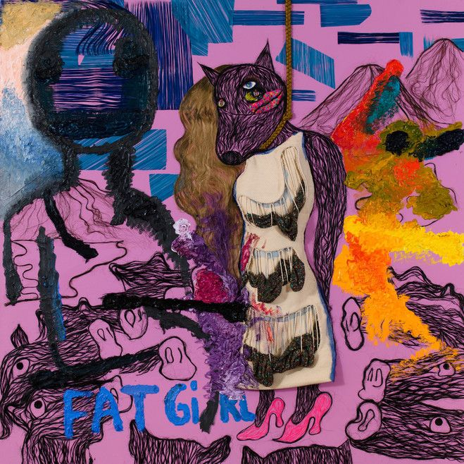 Bjarne Melgaard with Bob Recine and Andre Walker, Untitled (détail), 2015