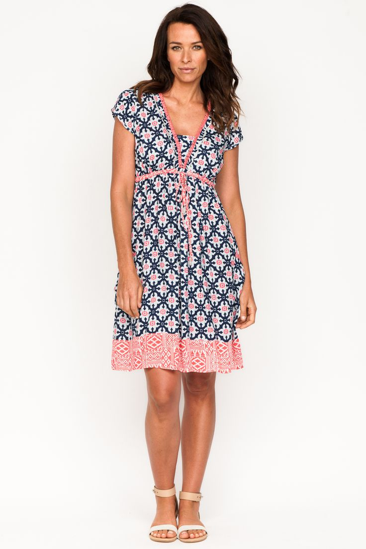 Firefly Amber Dress Miroccan Coral