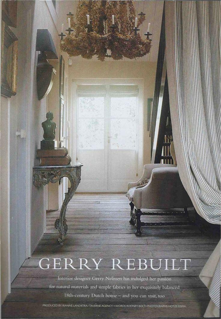 French Doors ~ Reclaimed Hardwood Floors ~ Chandelier