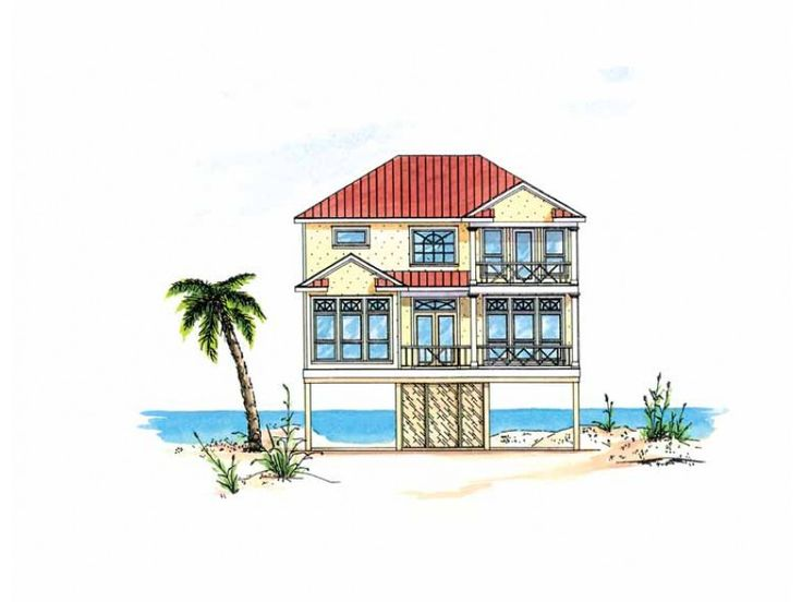 84 best images about houses on stilts and pilings on for Ocean house plans