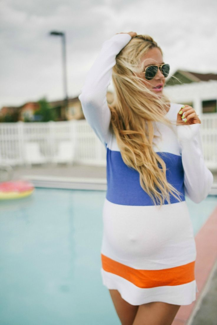 Swimsuit cover up & pregnant | Barefoot Blonde
