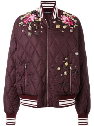 Dolce & Gabbana embroidered bomber jacket
