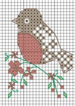 Bird Holiday Tag, designed by Angela Poole. More tags by Angela Poole can be found in CrossStitcher Issue 247.