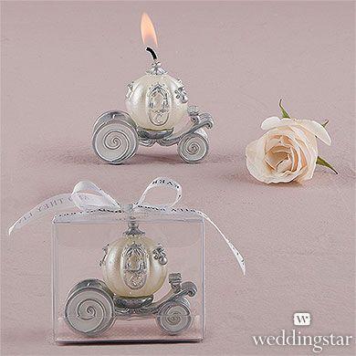 Cinderella Wedding Carriage Candle - Wedding favors
