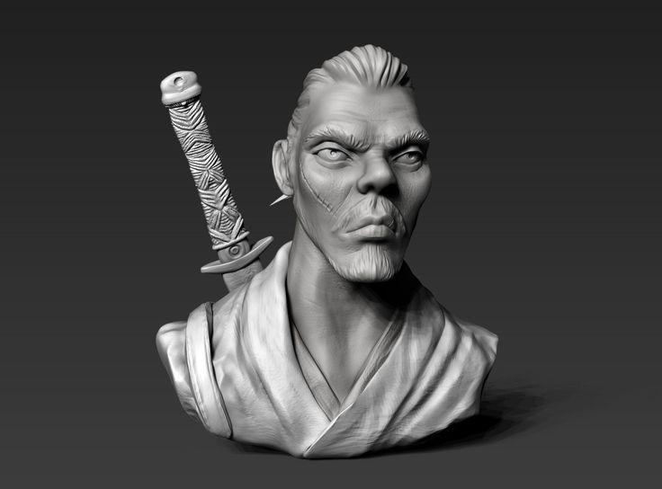 Samurai Warrior, Swasti DW on ArtStation at https://www.artstation.com/artwork/4lomn