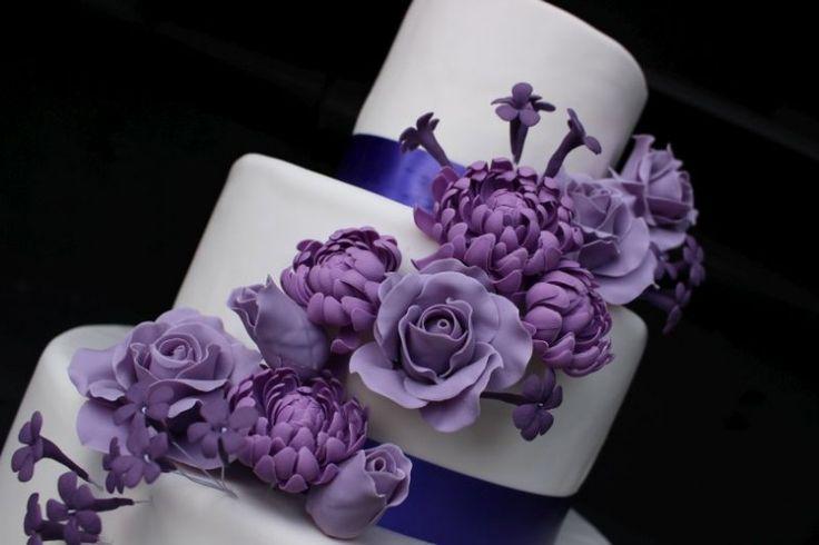 Paarse suikerbloemen