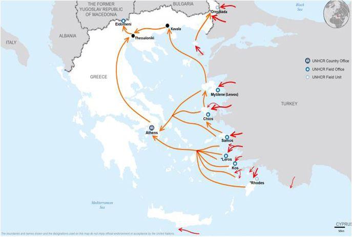 Greece dealing with refugeecrisis SOURCE: UNHCR