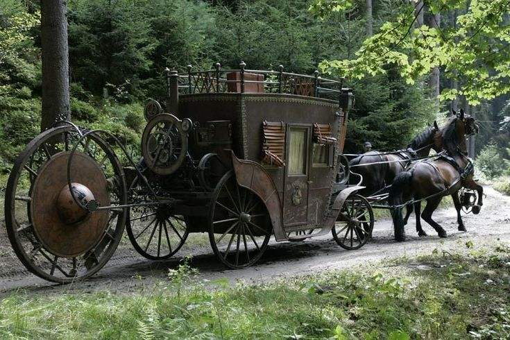 A carriage from the Russian movie Viy (2014).