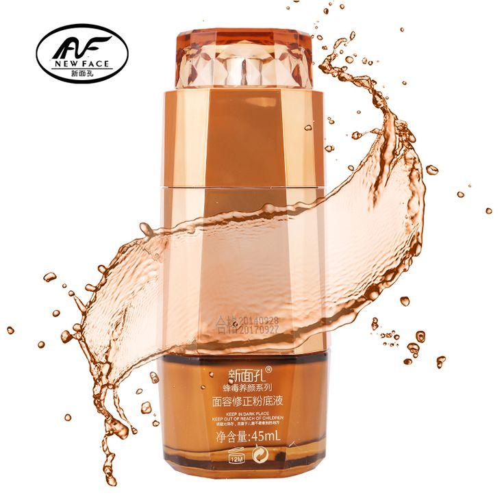 NewFace Brighten Dull Skin Color Whitening Cream facial Primer Bee Venom Revising Liquid Foundation Wrinkle Cover makeup Base
