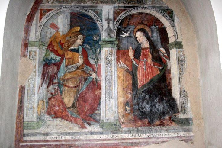 416. Carlo Crivelli - Annunciazione - 1491 - Amatrice, Chiesa di Sant'Agostino