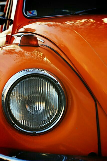 My first car looked just like this. Me and my orange bug!