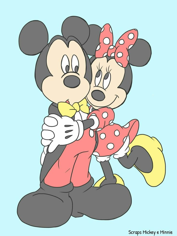 Mickey was not expecting a hug from Minnie.