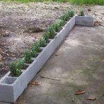 Maceteros con bloques de cemento - Curso de Organizacion del hogar
