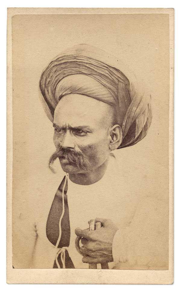 Nana Sahib, Albumen CdV Photograph, india, independence, mutiny