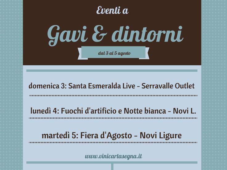 Eventi a #Gavi (AL) e dintorni dal 31 luglio al 5 agosto 2014