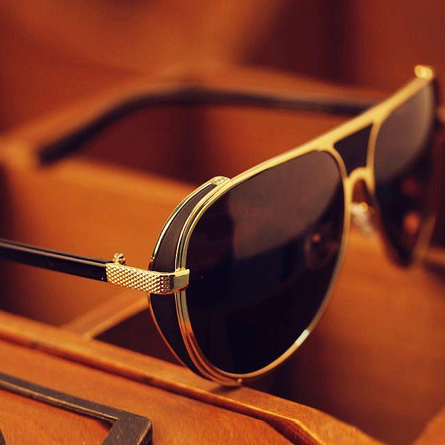 2015 Fashion Steampunk Metal Retro Sun Glasses For Men Oculos Masculino Brand Aviator Sunglasses Men Goggles Hot Sale G196