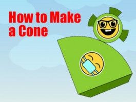 Cone - How to Make a Cone - a Printable 3d Net