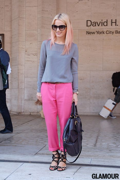 pink trousers, #streetstyle