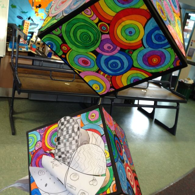 Floating Art in the classroom....a great installation group project for sure!!