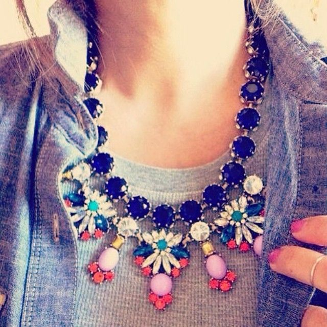 Dress up an otherwise casual outfit with our Pretty Petals necklace! Perfect for those lazy weekends! #ootd #wiwt #fashion #jewellery #statement #necklace #fbloggers