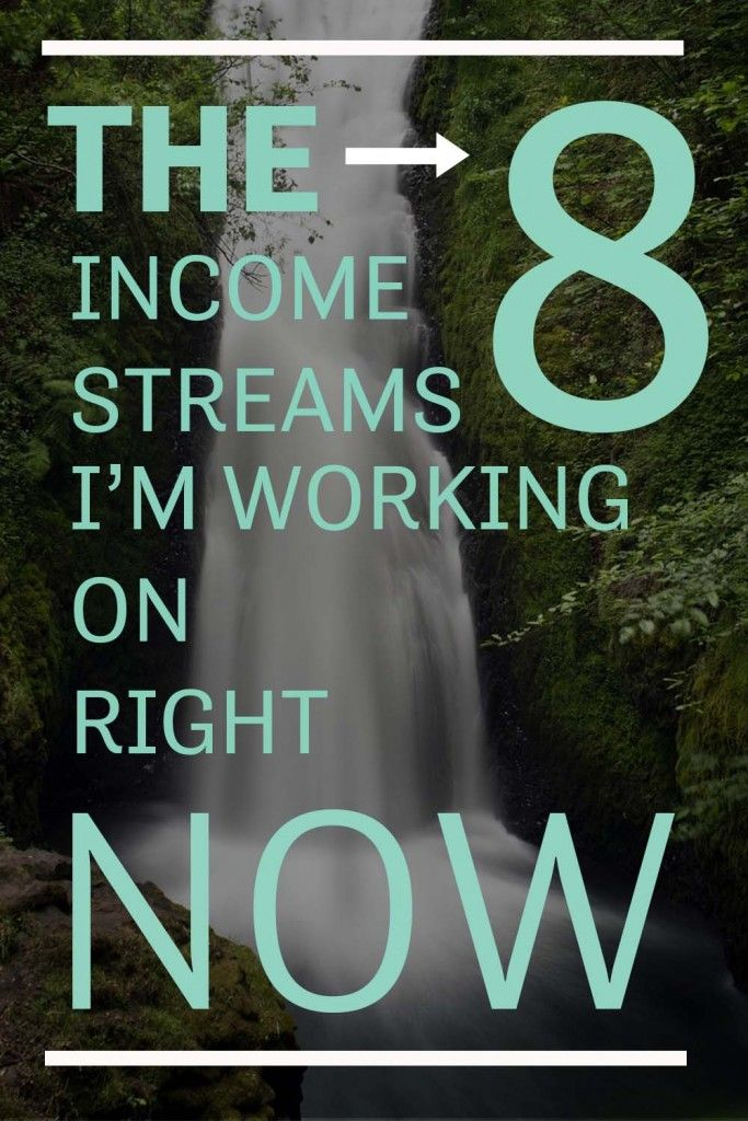 An inside look on the multiple streams of income I'm developing and trying to grow. The 8 income streams I'm working on right now, best ways to grow your biz, via @sidehustlenation