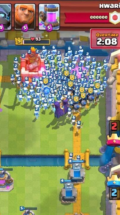Now that's what you call a skeleton Army..! Attack..!  #ClashRoyale #ClashersHQ www.clasherlab.com Visit For Website For Laster Clash of clans Content and Updates ! #Clasherlab