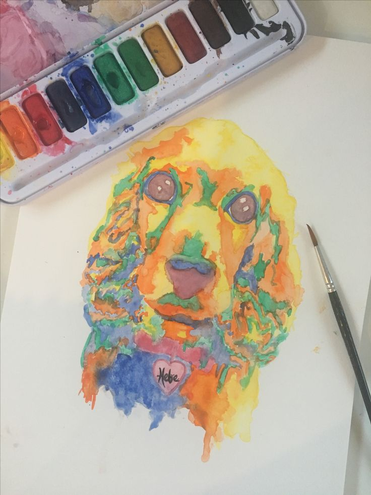 In loving memory of Hebe. Watercolor custom pet portraits - Order yours! - PrettyPoppybySally https://www.etsy.com/au/shop/PrettyPoppyBySally