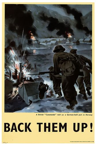 "A British ""Commando"" raid on a German-held port in Norway -"