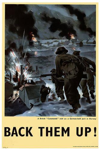 "A British ""Commando"" raid on a German-held port in Norway -"