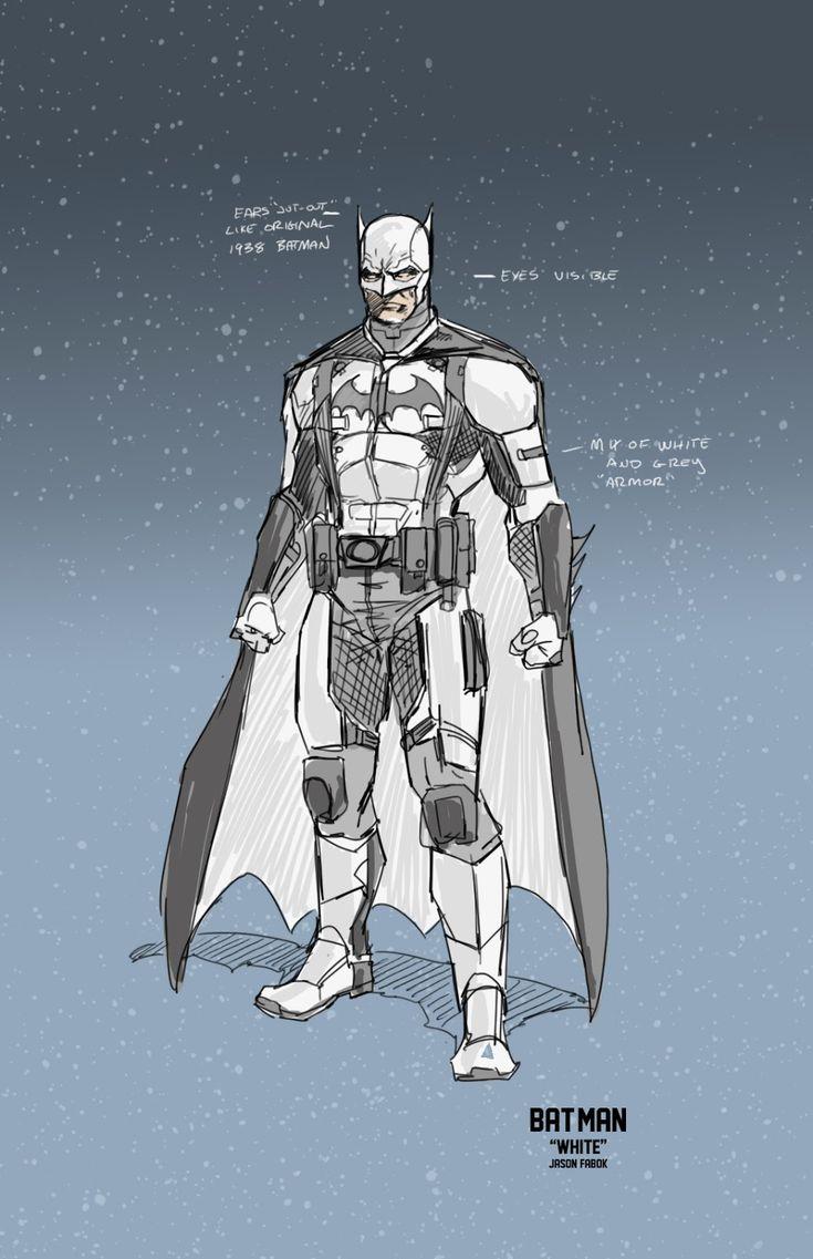 """Batman """"White"""" by Jason Fabok"""