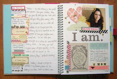 The Crafty Blog Stalker: The Start of a Smash Book. Must have journal.