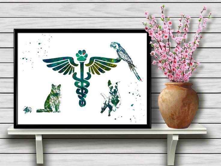 Veterinary Symbol, Vet Symbolism, Pet Clinic Wall Art