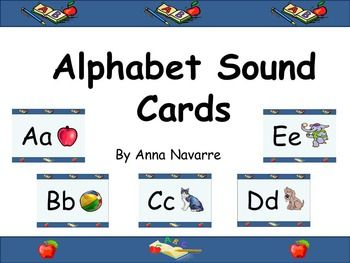Alphabet Sound Cards is a set of 26 letter cards. The cards allow practice and review of letter sounds. This set also includes an accompanying Power Point with audio. While the audio is not studio quality, it is a resource that provides support for learning letter sounds.