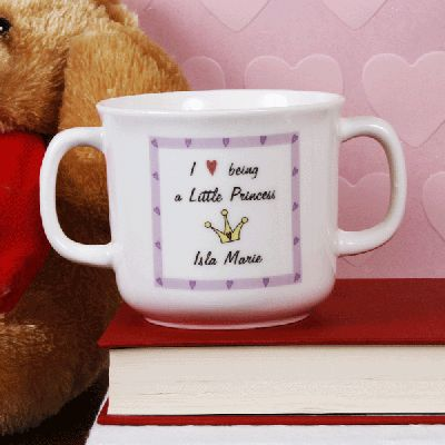 Little Princess Loving Cup. £14.99 #LittlePrincess #Cup #NewBaby #NewBabyGifts #PersonalisedBabyGifts #Newborn #Baby #BabyGirl