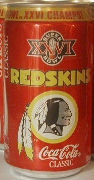 Washington Redskins Super Bowl XXVI Can - 1992. Would love to have a new one of these to go with this one I have