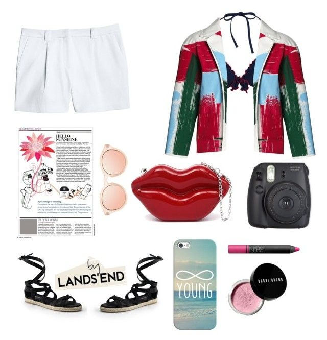 """""""Paint Your Look With Canvas by Lands' End: Contest Entry"""" by amaliyah-nur-irana on Polyvore featuring Canvas by Lands' End, Lands' End, Casetify, NARS Cosmetics and Bobbi Brown Cosmetics"""