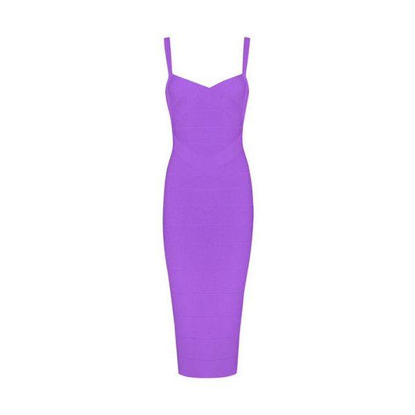 Callie Purple Bandage Dress – BWCLOSET found on Polyvore