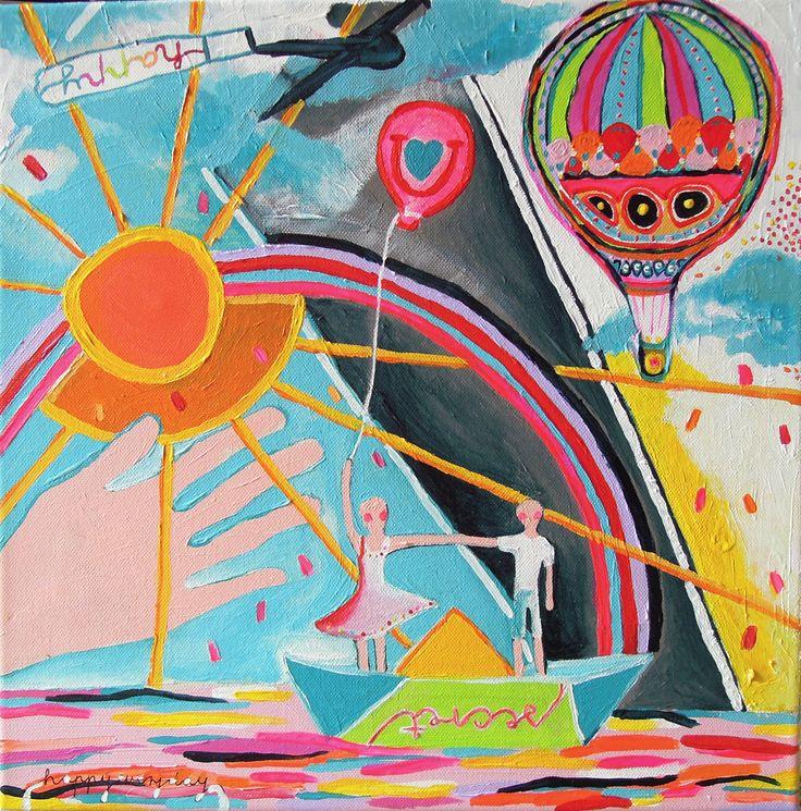 secret / 40 x 40 cm / acrylic on canvas